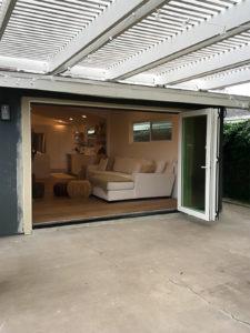 costa mesa folding patio door fully opened exterior view 225x300